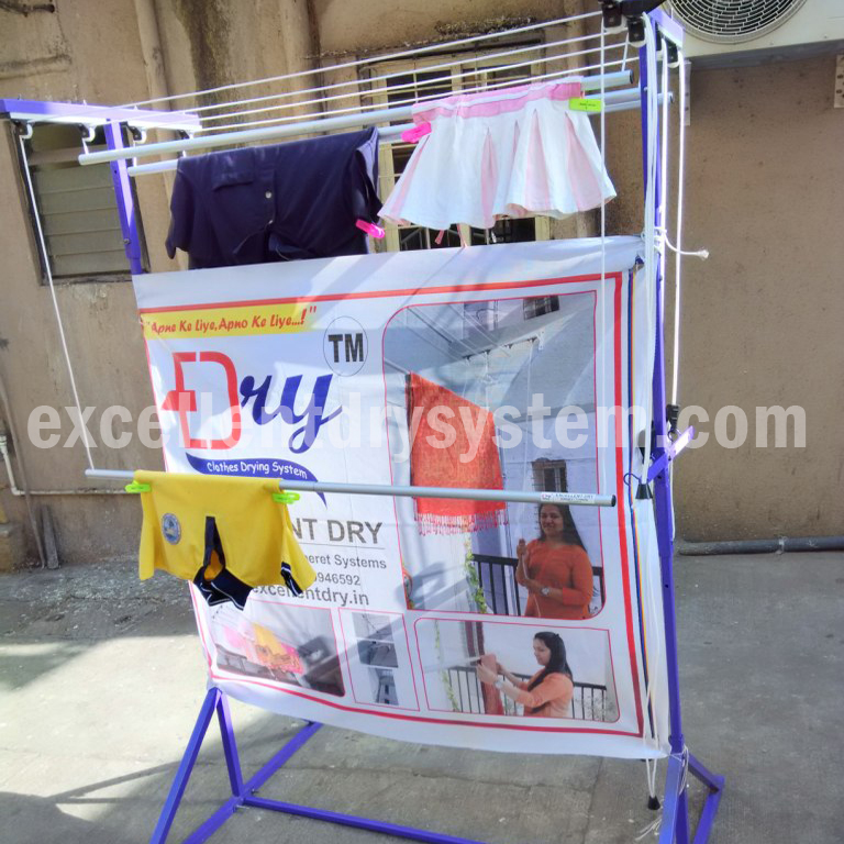 wall mounted clothes drying rack in Hadpsar