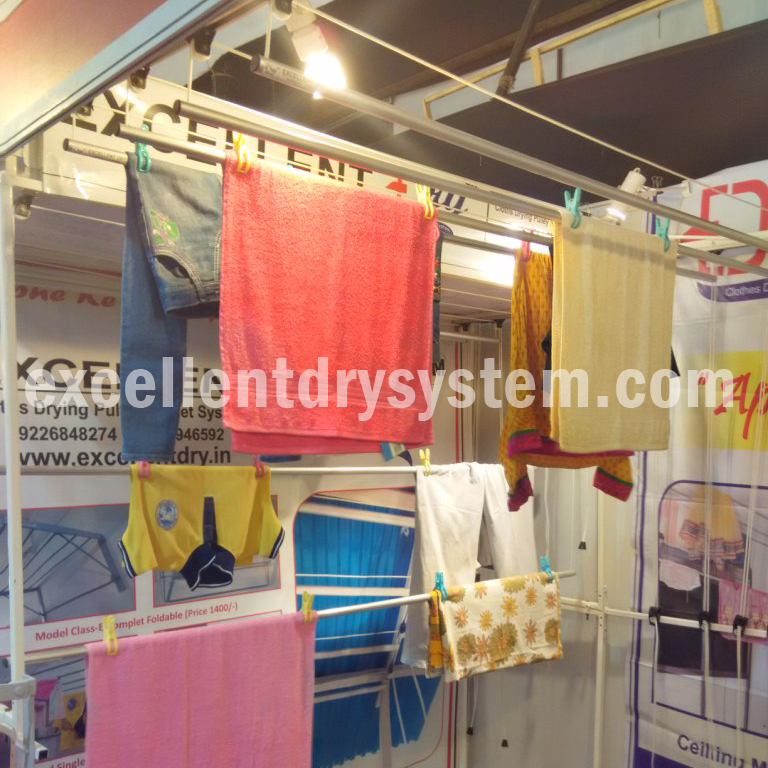 pulley operated cloth drying system
